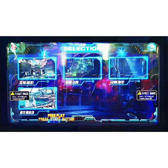 Dino Battle 2 Ball Shooter Ticket Redemption Arcade Machine - screen display 2