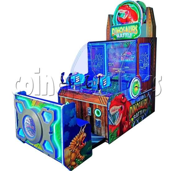 Dinosaurs Battle Water Shooter Ticket Redemption Arcade Machine - angle view