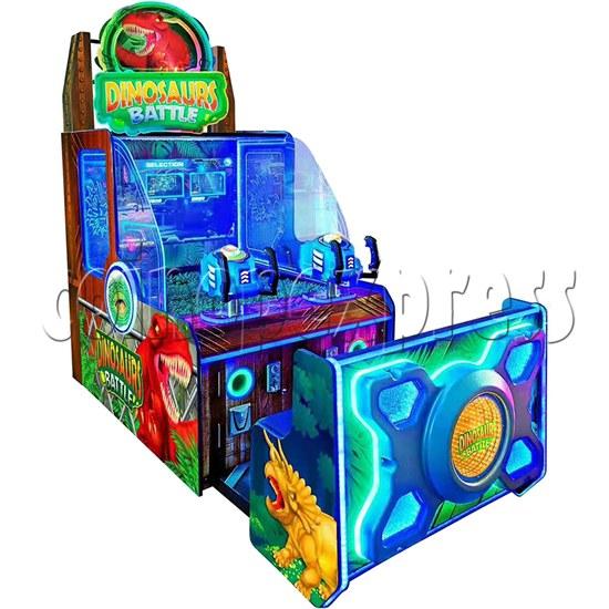 Dinosaurs Battle Water Shooter Ticket Redemption Arcade Machine - left view