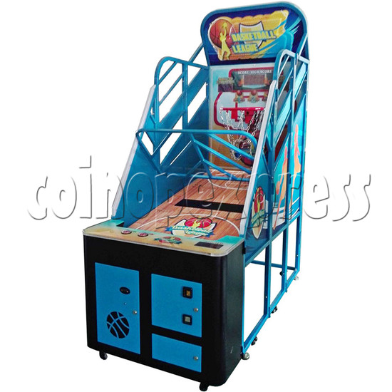 Basketball League Ticket Redemption Arcade Machine - angle view