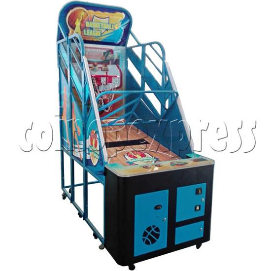 Basketball League Ticket Redemption Arcade Machine - left view 1