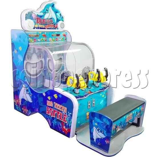 Big Teeth Battle shooting game Arcade Machine - left view