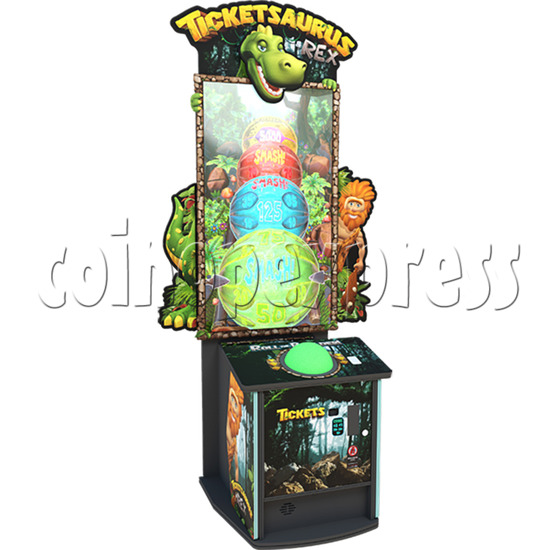 Ticketsaurus & Rex 65 inch Ticket Redemption Arcade Game Machine - left view