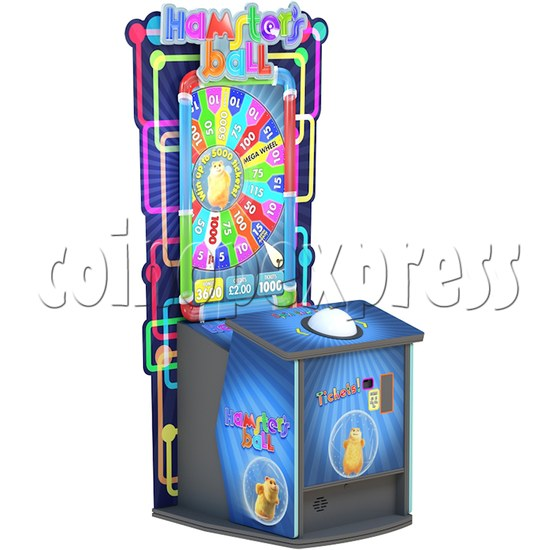 Hamster's ball Ticket Redemption Arcade Game - left view