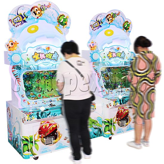 PAC Fish Ticket Redemption Arcade Game 4 Players Upright Type - play view 1