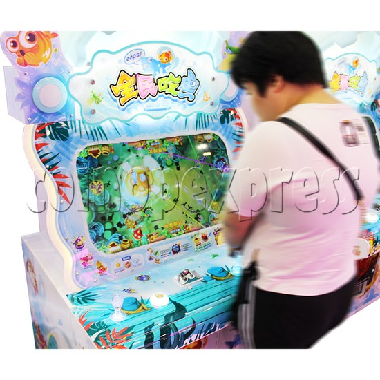 PAC Fish Ticket Redemption Arcade Game 4 Players Upright Type - play view 2