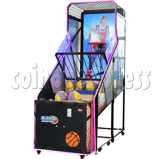 Storm Shot Basketball Arcade Ticket Redemption Game Machine - angle view