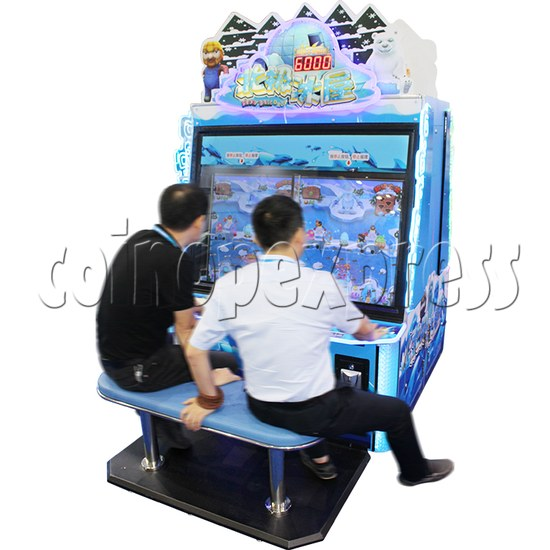 Snow Ball Drop Ticket Redemption Game Machine 4 Players - play view