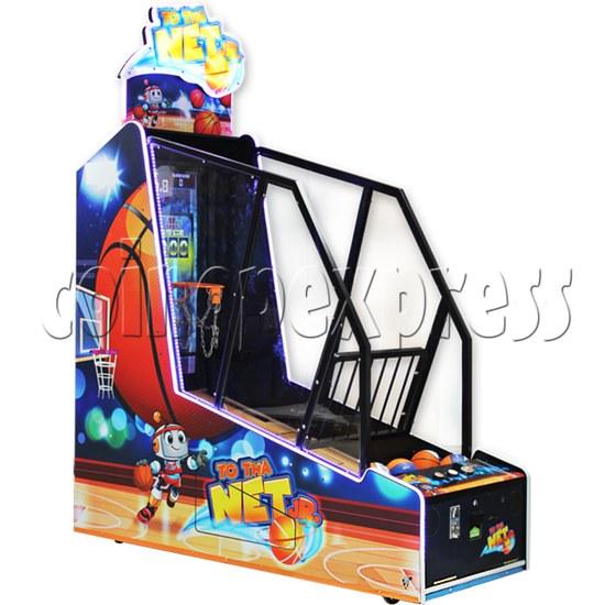 To Tha Net Junior Basketball Arcade Ticket Redemption Game Machine - left view