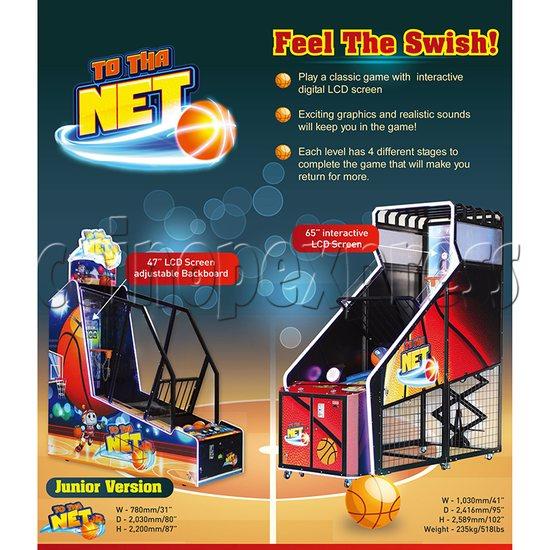 To Tha Net Junior Basketball Arcade Ticket Redemption Game Machine - catalogue
