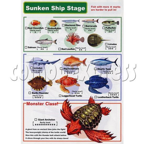 Ace Angler Fish Arcade Machine - sunken ship stage