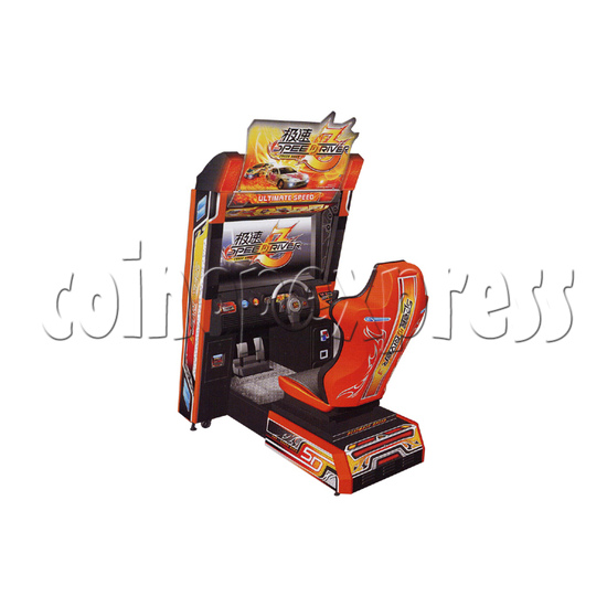 Speed Driver 3 Arcade Video Racing Game Machine - left view