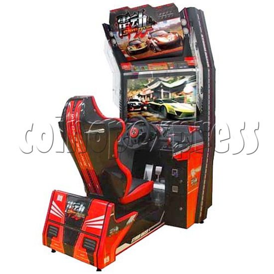 Storm Racer Arcade Video Racing Game Machine - angle view