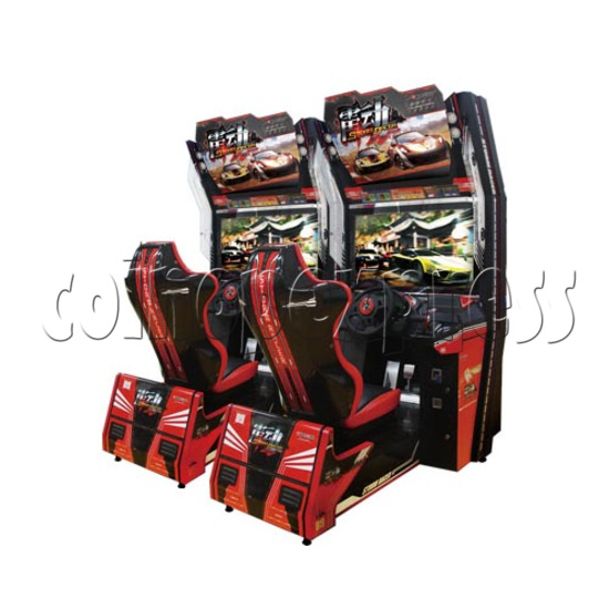 Storm Racer Arcade Video Racing Game Machine - right view