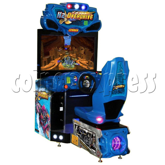 H2 Overdrive Arcade Game - left view
