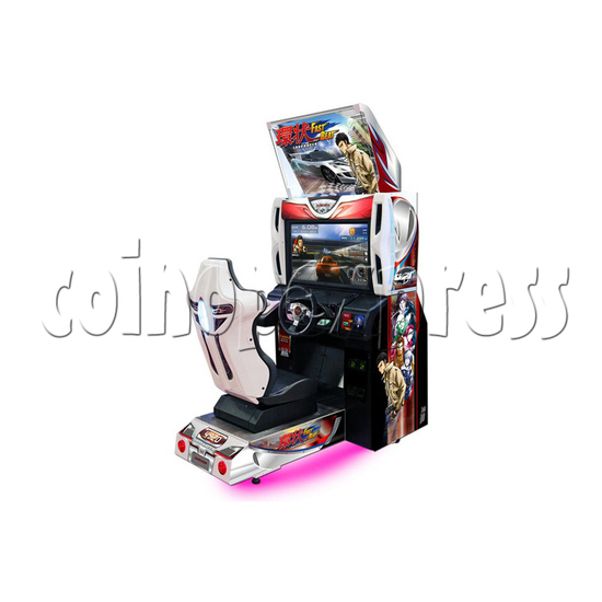 Fast Beat Loop Racer Arcade Video Racing Game Machine - right view
