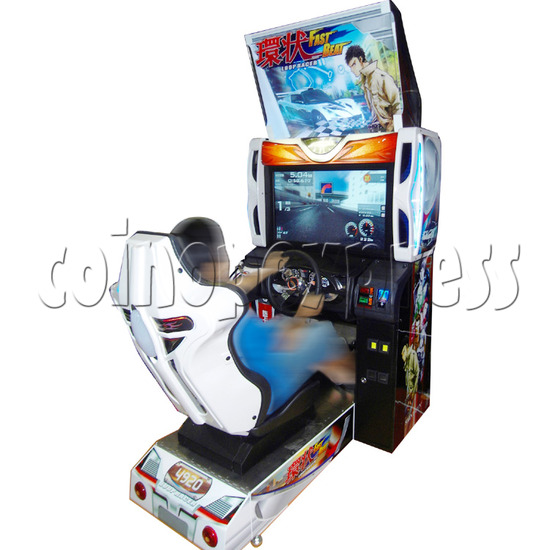 Fast Beat Loop Racer Arcade Video Racing Game Machine - gameplay