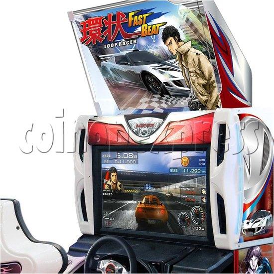 Fast Beat Loop Racer Arcade Video Racing Game Machine - screen display
