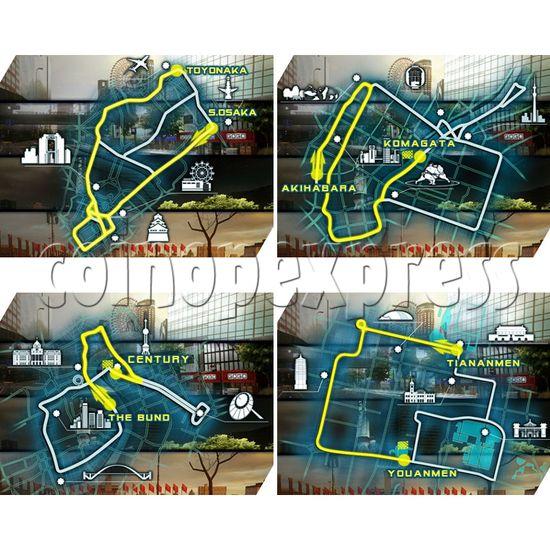 Fast Beat Loop Racer Arcade Video Racing Game Machine - course
