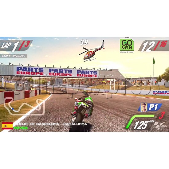 MotoGP Arcade Video Racing Game Machine - screen display 1
