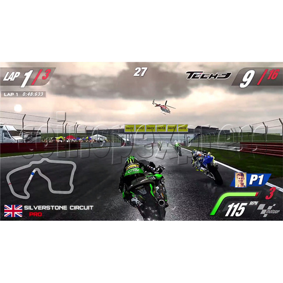 MotoGP Arcade Video Racing Game Machine - screen display 2