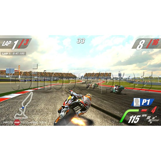 MotoGP Arcade Video Racing Game Machine - screen display 4