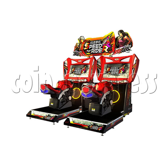 Speed Rider 2 Twin Arcade Video Racing Game Machine - right view