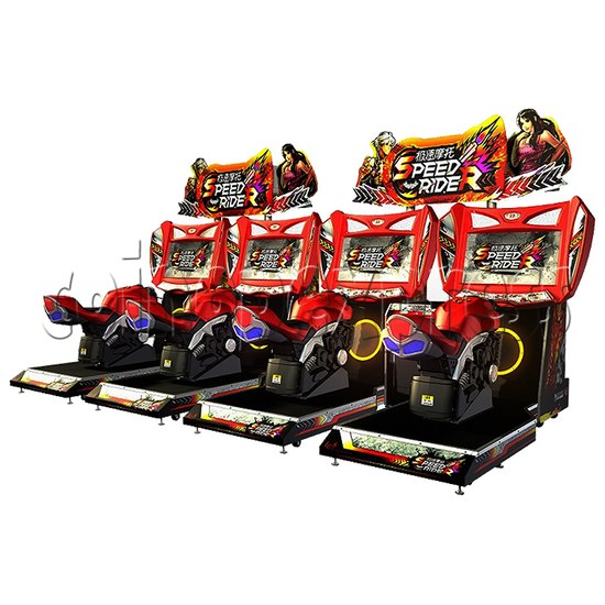 Speed Rider 2 Twin Arcade Video Racing Game Machine - power view