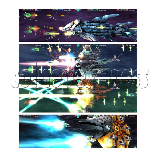 Darius Burst: Another Chronicle Shooting Game - screen display 2
