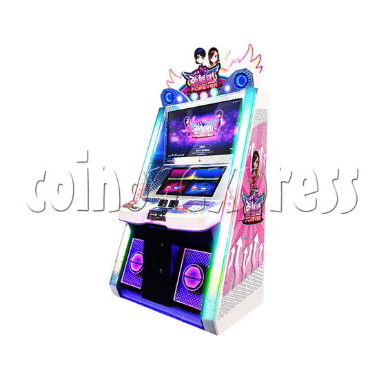 Super Finger Dance Arcade Game Machine - right view