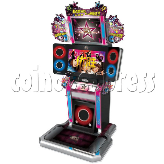 Top Star Multi-Touch Music Game Machine - right view