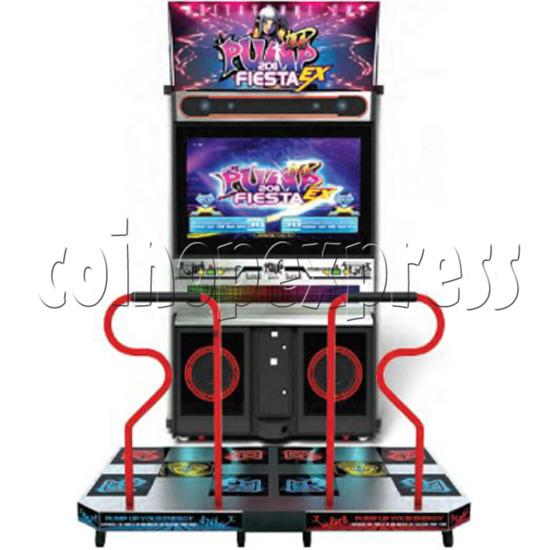 Pump It Up 2011 Fiesta EX Dancing Machine - front view
