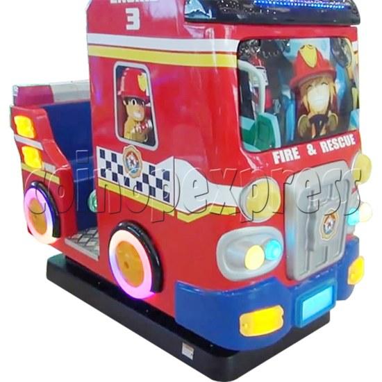 Fire Rescue Car Kiddie Rides Video Game Machine - left view
