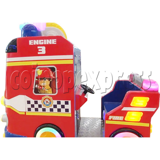 Fire Rescue Car Kiddie Rides Video Game Machine - right side view