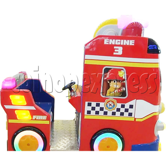 Fire Rescue Car Kiddie Rides Video Game Machine - left side view