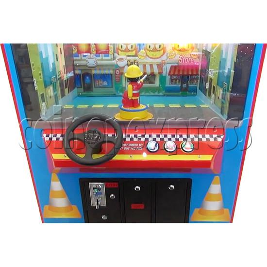 Fire Rescue Car Kiddie Rides Video Game Machine - console