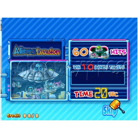 Hammer Fun Arcade Ticket Redemption Machine - screen display 3