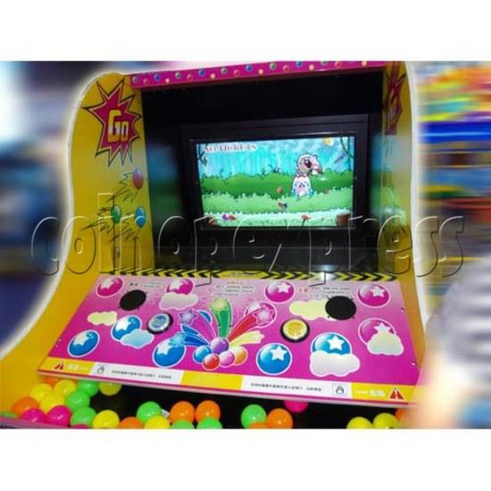 Xball Toss Arcade Ticket Redemption Machine - screen display