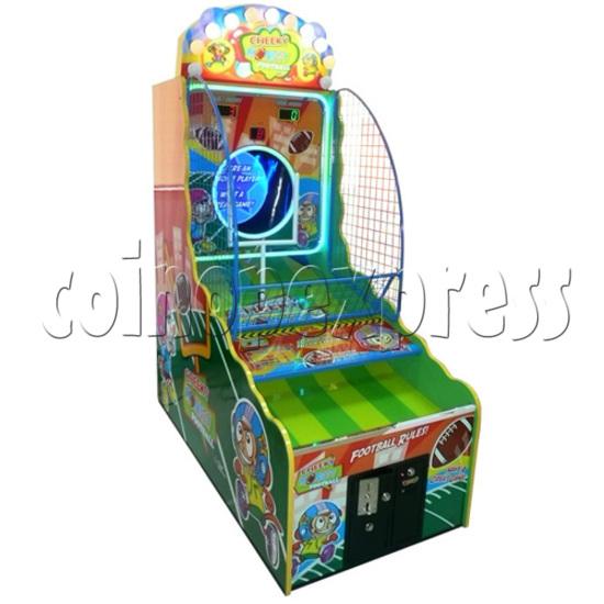 Cheeky Monkey Football Arcade Ticket Redemption Machine - left view