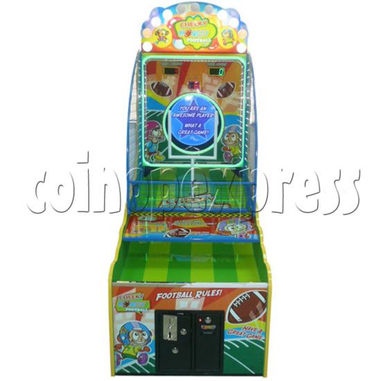 Cheeky Monkey Football Arcade Ticket Redemption Machine - front view