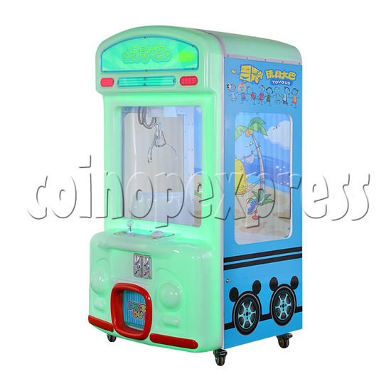 Toy Bus Claw Crane Machine - 1 Player right view
