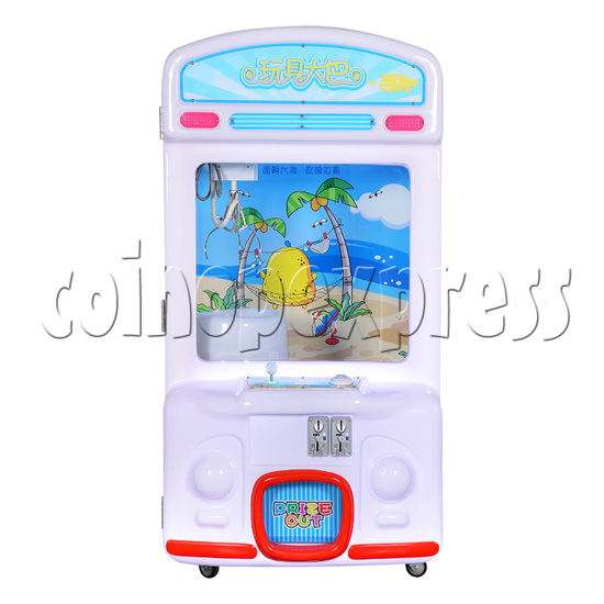 Toy Bus Claw Crane Machine - 1 Player front view