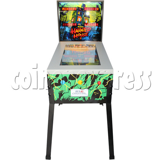Haunted House Digital Pinball Machine with 12 Gottlieb Games (Toyshock) - front view