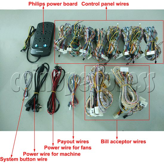 8 Player Fish Machine Wiring Harness for IGS and China Game Kits - full set