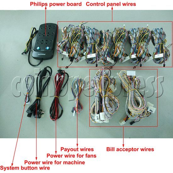 10 Player Fish Machine Wiring Harness for IGS and China Game Kits - full set
