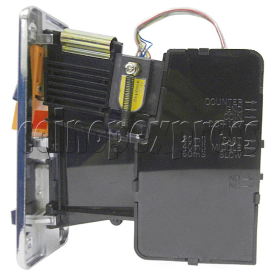 Front Insertion Electronic Coin Selector - right view
