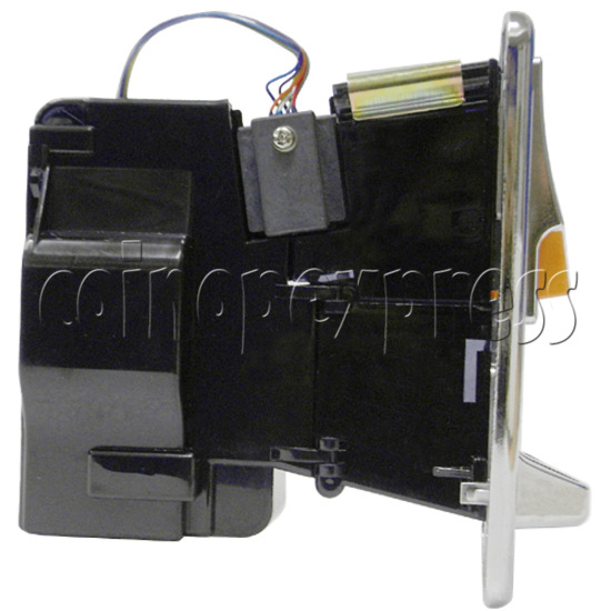 Front Insertion Electronic Coin Selector - left view