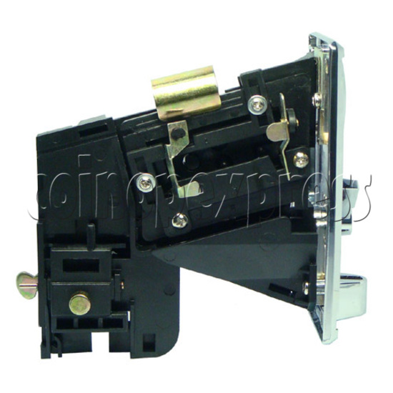 Coin Acceptor - plastic mechanical front drop - left view