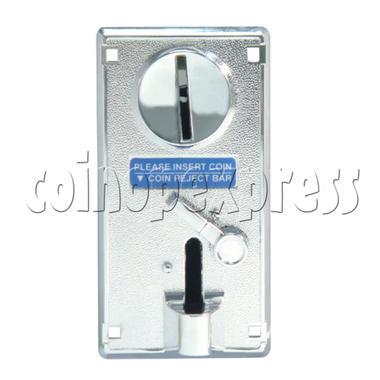 Coin Acceptor - plastic mechanical front drop - front view