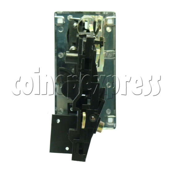 Coin Acceptor - plastic mechanical front drop - back view